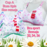 sport bra remaja bh ABG perempuan wanita tanpa kawat size 32 34 36 A