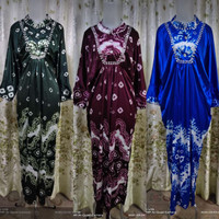 Baju Set Gamis Kaftan Jumputan 7 Modern Asli Palembang