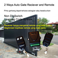 2 Ways Autogate Reciever and Remote. Learning Code System 433.92 MHz