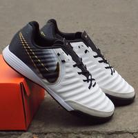 Sepatu Futsal Nike Tiempo x Finalle White Black