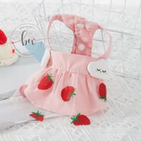 Baju Anjing Kucing - PA06 Strawberry Cloud Dog Cat Dress