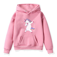 Sweater Anak Perempuan UNICORN Baju Anak Jaket Anak Cewek - TERLARIS! - Pink