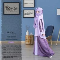 AR 02 Baju Muslim Gamis Anak set Cadar Yaman Basegeh Purple