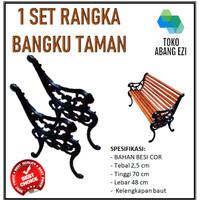 1 SET RANGKA BANGKU TAMAN / KURSI TAMAN / KURSI TERAS BESI COR + BAUT