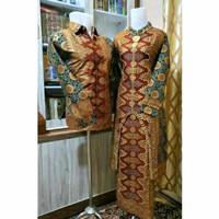 Batik songket Palembang set kurung couple