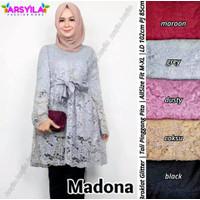 MADONA Atasan Broklat / Tunik Brukat / Model Baju Tunik Brokla Terbaru