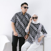 Baju Batik Blouse Kombinasi Motif Parang   Couple Sarimbit Terbaru