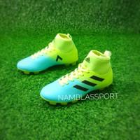 fashion anak sepatu bola anak kecil junior kids 33 - 37 adidas murah - BIRU HIJAU, 37