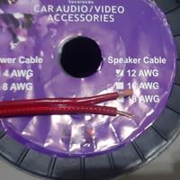 Kabel Cabel Speaker Subwoofer LM AUDIO JACARANDA 12AWG 12 AWG Merah