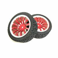 Roda Robot Smart Car 67mm Red RC Whell Velg Ban Karet Radial