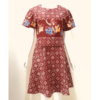 Setelan Batik Rok Mengembang size M - SB01