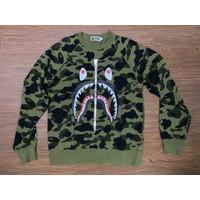 Bape Green Camo Long Sleve Original/Bape 1st Camo Shark WGM XL Tee