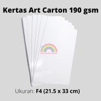 kertas art carton 190 gsm F4 /kertas glossy