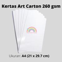 Art Carton 260 gsm uk A4 /kertas glossy