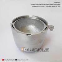 Asbak Aluminium Bulat Tabung Mangkok Finishing Silver - MK Aluminium