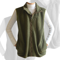 AC Premium Collection Army Green Sherpa Vest