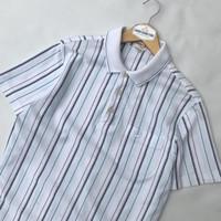 Kaos Kerah Pria Poloshirt Crocodile Original Stripe Second Branded