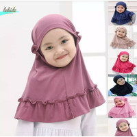 Kerudung Jilbab Hijab Anak Bayi Simple Lucu Jersey Polos 0-3 tahun