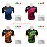 Baju Kaos Jers Olahraga Volly Voli Mizuno Pria Wanita Printing