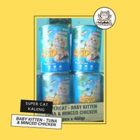 Wet Food Kucing   Super Cat Baby Kitten Tuna & Minced Chicken