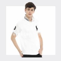 VELESRY Baju Polo Shirt Pria Import High Quality - Putih, XL