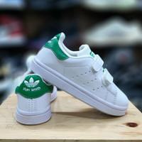 Sepatu Anak Anak Adidas Stan Smith White Green 21-35
