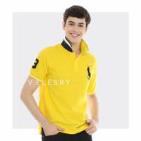 VELESRY Baju Polo Shirt Pria Import High Quality - Kuning, M