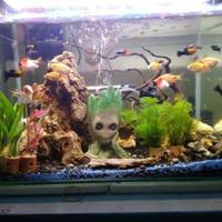 Groot Aquascape Reptil Aquarium Plant Pot Serbaguna