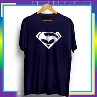 Baju Kaos Distro Pria Tshirt Cowok Kekinian Superhero Batman Superman