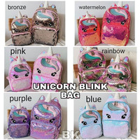 tokyoberry UNICORN BLINK SEQUIN BAG tas anak sekolah little poni pony