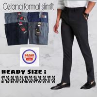 Celana kerja kantor slimfit/Formal/Kantor Bahan wool Slimfit pria