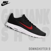NIKE Downshifter 9 Black/Red Sepatu Sport Lari Pria 100% Original BNIB