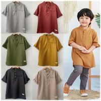 Baju Koko Anak Laki Laki Baju Muslim Anak 1 2 3 4 5 Tahun Premium