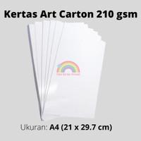 kertas art carton 210 gsm uk A4 / kertas glossy