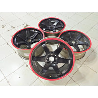 4 Pic Velg Onli Model TOKYO R17 L7,5/9 PCD 8X100/114 ET38/42 BR (70%)