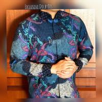 Baju batik pria lengan panjang,baju bati moderen batik exclusive.