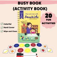 BUSY BOOK ACTIVITY BOOK MAINAN MONTESSORI BUKU EDUKASI ANAK BALITA