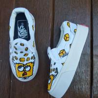 SEPATU VANS Baby Kids Junior Spongebob WHITE PUTIH ANAK KECIL TK SD