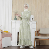 Baju Muslim Gamis Wanita Motif Fayrany FBG-WM-002 - Ungu, S
