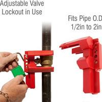 Adjustable Ball Valve Lockout (LOTO)