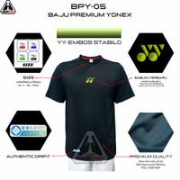 BPY-05 EMBOS BAJU BADMINTON PREMIUM YONEX EMBOS - YY-EMBOS STABIL, M