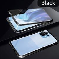 Case magnet XIAOMI MI 11 Duoble kaca depan belakang original - Biru