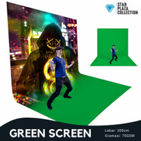 Kain Background Foto Video Studio Green Screen Layar Hijau Lebar 2m