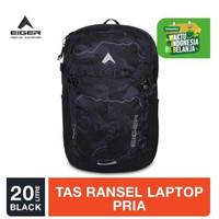 Tas Eiger Aldous Laptop Backpack 20L Tas Punggung - Black
