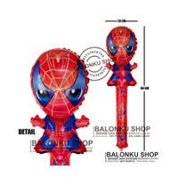 Balon Tongkat / Balon Foil Pentung / Balon Karakter Spiderman