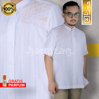 PREMIUM Baju Koko Putih Pendek Nyaman Adem Keren Moderen Airmax-03