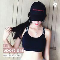 Bra 15 Sport Pakaian Dalam BH Bikini Seksi Busa Tanpa Kawat Nyaman - Hitam