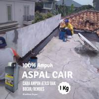 Aspal Cair Cat Atasi Air Bocor Pada Lantai Dak Atap (1Kg)