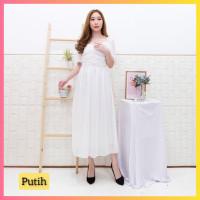 baju dress pesta anak 16-22thn perempuan remaja cindy gaun putih