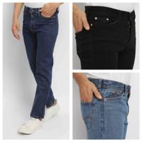 DENIM celana panjang jeans pria reguler fit standar basic